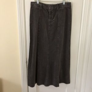 Margaret O'Leary Dark Gray corduroy skirt